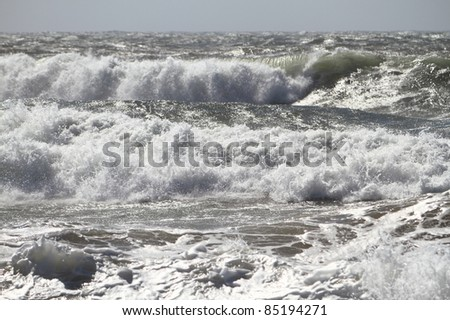 Ocean waves after a storm - stock photo