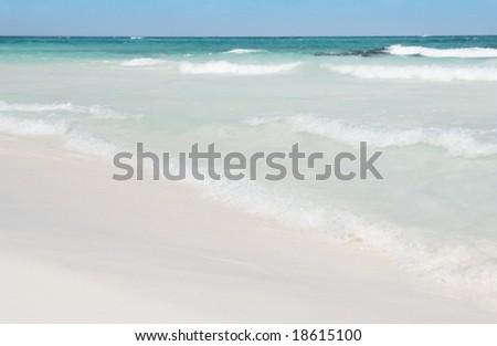 Ocean waves coming ashore - stock photo