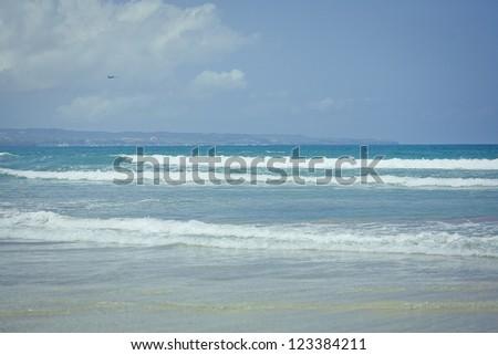 Ocean waves. Indian ocean. Bali. Indonesia - stock photo