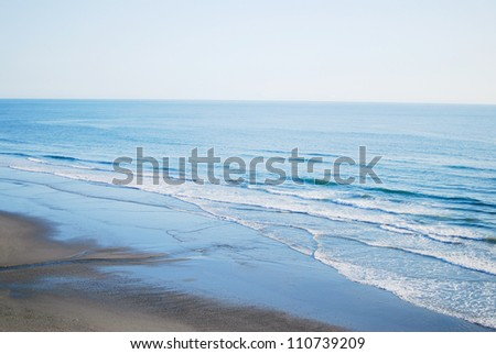 Ocean waves on the Washington state coast in Olympic National Park, USA - stock photo