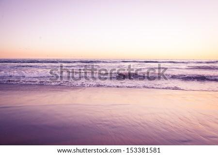Ocean waves retro look. Front view - stock photo