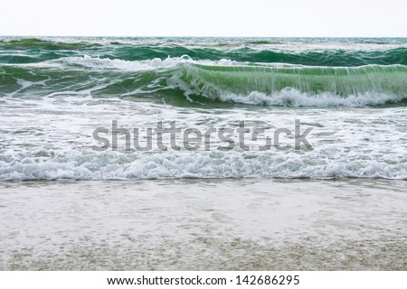 Ocean waves with storm