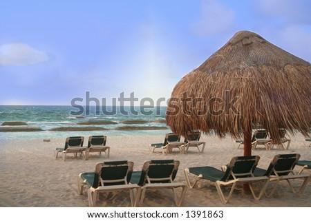 Oceanfront view - stock photo
