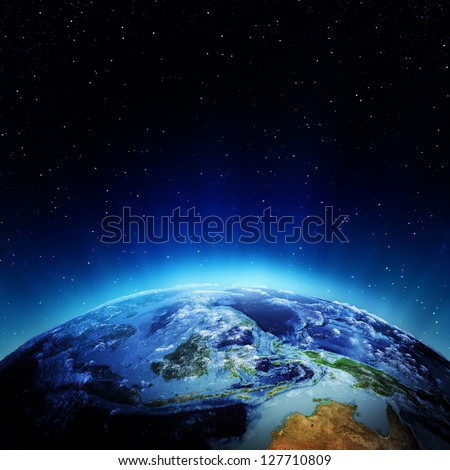 Oceania and polynesia. Elements of this image furnished by NASA - stock photo