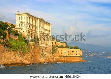 Oceanographic museum of Monaco, near the palace - stock photo