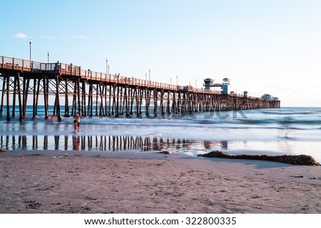 Oceanside Pier/ Iconic Oceanside pier is the second longest wooden pier in California