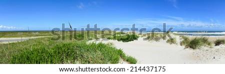 Ocracoke Island panoramic view. Outer banks, North Carolina. - stock photo
