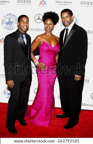 October 25, 2008. Denzel Washington at the 30th Anniversary Carousel Of Hope Ball held at the Beverly Hilton Hotel, Beverly Hills. - stock photo
