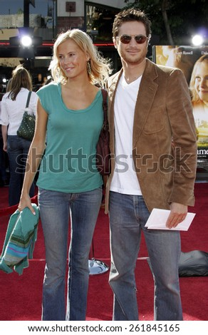 "October 9, 2005 - Erinn Bartlet and Oliver Hudson at the ""Dreamer"" Los Angeles Premiere at the Mann Village Theatre Westwood, California United States."