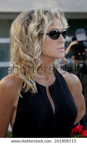 October 5, 2005. Farrah Fawcett. Friends of the late Rodney Dangerfield gather together to commemorate the one-year anniversary of his passing at the home of Joan Dangerfield in Hollywood.