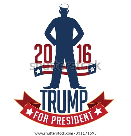 October 25, 2015: Illustration of Democrat presidential candidate Donald Trump for President 2016. - stock photo