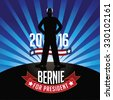 October 21, 2015: Illustration showing Democrat presidential candidate Bernie Sanders for President 2016. - stock photo