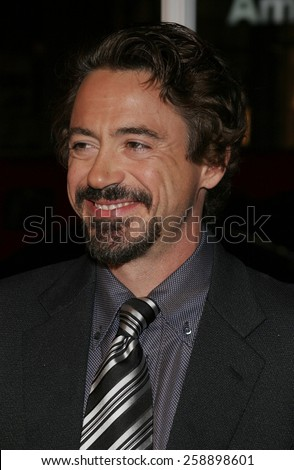 "October 18, 2005. Robert Downey Jr. at the 9th Annual Hollywood Film Festival Opening Night Screening of ""Kiss Kiss, Bang Bang"" at the Grauman's Chinese Theatre in Hollywood, California United States."