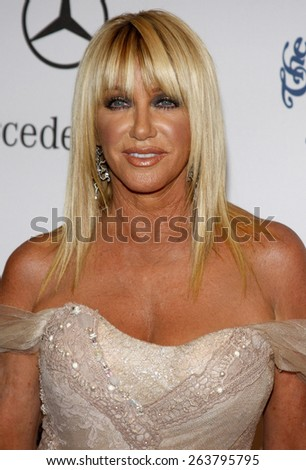 October 25, 2008. Suzanne Somers at the 30th Anniversary Carousel Of Hope Ball held at the Beverly Hilton Hotel, Beverly Hills.  - stock photo
