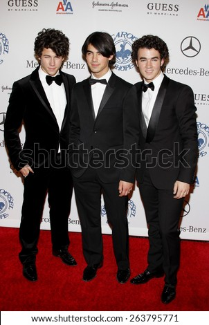 October 25, 2008. The Jonas Brothers at the 30th Anniversary Carousel Of Hope Ball held at the Beverly Hilton Hotel, Beverly Hills.  - stock photo