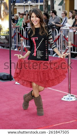 """October 9, 2005 - Victoria Justice at the """"Dreamer"""" Los Angeles Premiere at the Mann Village TheatreWestwood, California United States. - stock photo"""