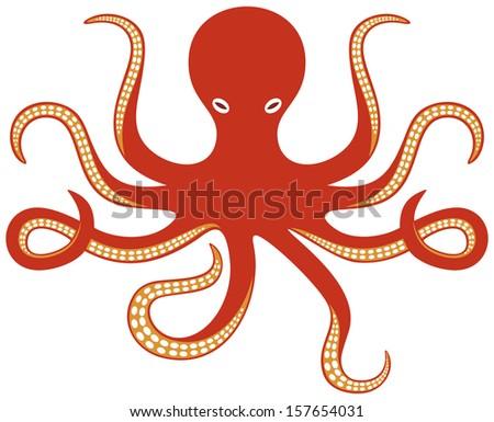 octopus ocean (octopus and tentacles) - stock photo