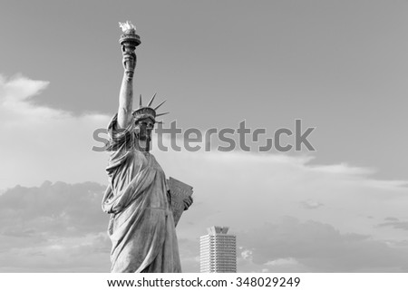 ODAIBA,TOKYO-CIRCA JUNE 2014: There exists a replica of statue of liberty in odaiba, japan on CIRCA June 2014