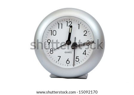 Odd broken grey clocks, concept, isolated.