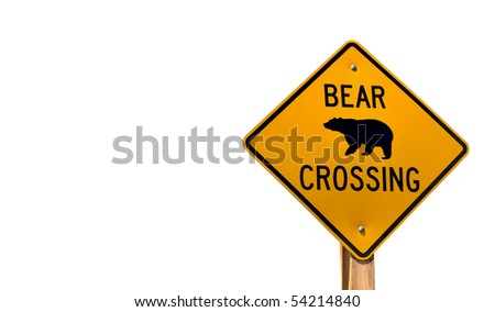 Odd Road Sign - stock photo