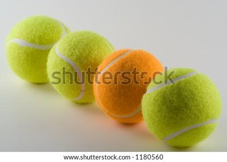 Odd tennis ball - stock photo