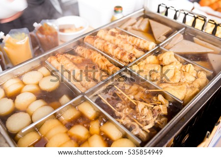 Oden, Japanese dishes