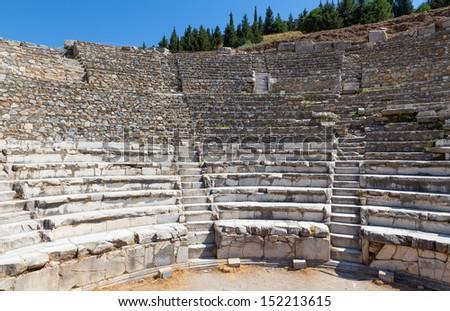 Odeon, ancient Ephesus, Turkey - stock photo