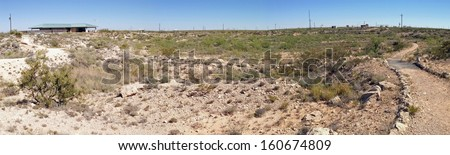 Odessa Meteor Crater, Texas - stock photo