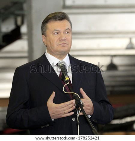 ODESSA - OCTOBER 24: President of Ukraine Viktor Yanukovych during his working visit to Odessa, October 24, 2012 in Odessa , Ukraine.