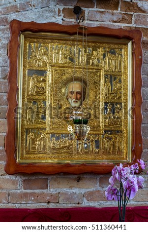 iconostasis odessa ukraine interior orthodox church altar stock photo