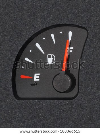 Of a car fuel display showing full tank - stock photo