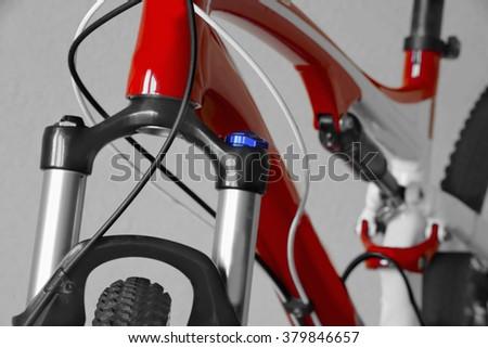 Mountain Bike Rear Shock Bike Parts Stock Photo & Image (Royalty ...