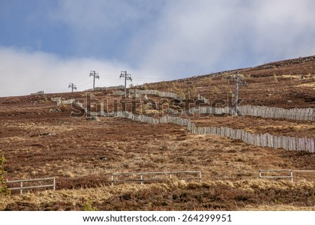 Of season Dry ski slope,