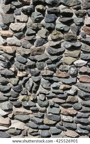 of stone masonry - stock photo
