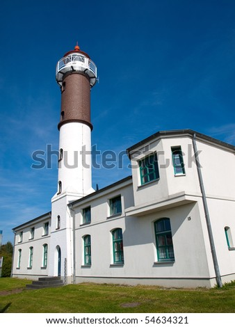 Of the Lighthouse on the island of Poel in early summer