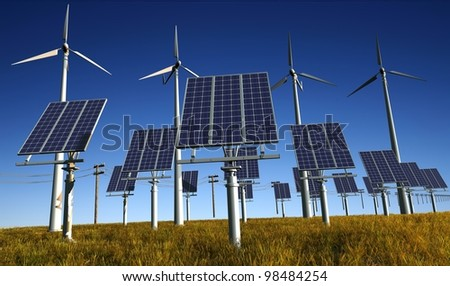 Of wind generators and solar panels on the sky.