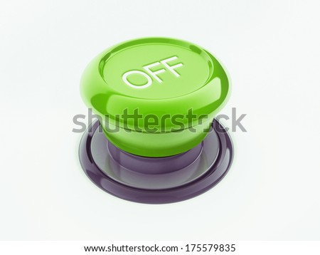 Off Button isolated on white background - stock photo