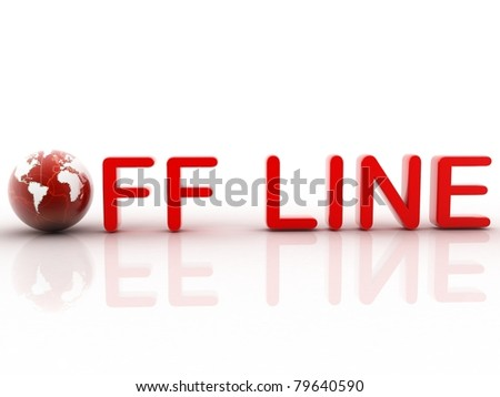 Off line - stock photo