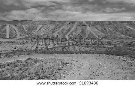 Off road area in the Mojave Desert. - stock photo