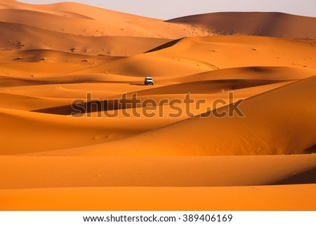 Off road car in the Desert - stock photo