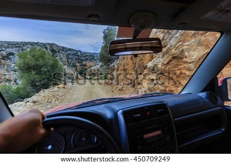 Off- road, Crete, Greece - stock photo