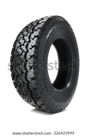 Off-road tire isolated on white background
