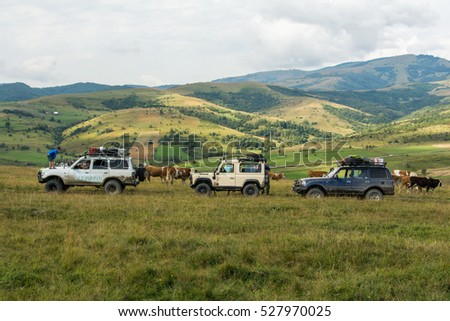 Off road warriors, offroad expedition, Golija mountain in southwestern Serbia, august 2016