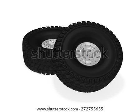 Off road wheel - stock photo