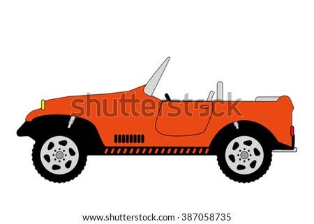 off-road 4x4 vehicle illustration on white - stock photo