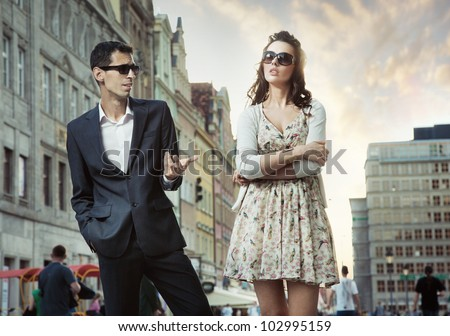 Offended woman - stock photo