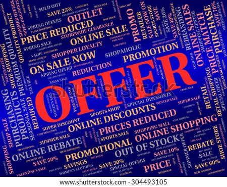 Offer Word Meaning Clearance Bargain And Reduction