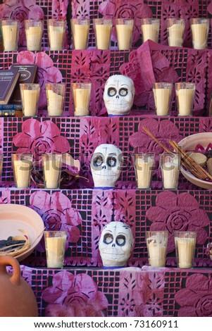 offering dia de muertos mexico - stock photo