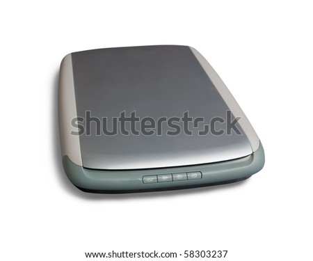 office A4 scanner. Isolated on white with clipping path