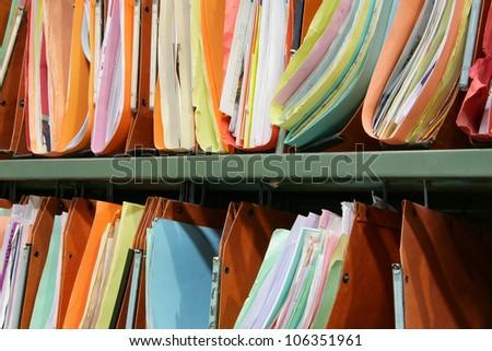 Office achieves - stock photo